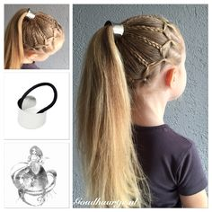 Messy ponytail with haircuff