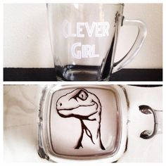 Clever Girl coffee mug by SimplyGlassic on Etsy, $11.00 Jurassic Park