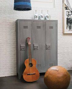 KP decor studio: Taquillas vintage, decoración de estilo industrial ** Lockers, more industrial style