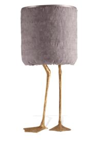 """Special Order Design:  34"""" Aged Gold Grey Feather Plumage Lamp * Custom Quotation Email: customorders@instyle-decor.com"""
