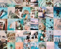 Rainbow Aesthetic, Beach Aesthetic, Aesthetic Room Decor, Wall Collage Decor, Photo Wall Collage, Picture Wall, Aesthetic Backgrounds, Aesthetic Wallpapers, Vintage Walls
