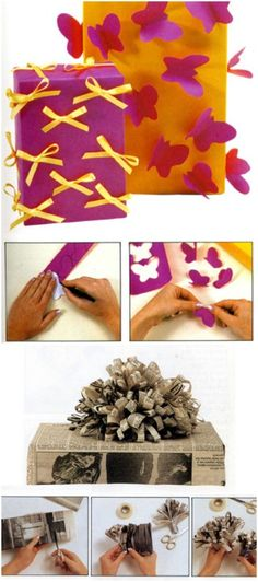 Paper butterflies or pretty bows.