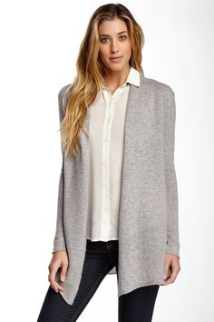 Get cozy in this simple open sweater