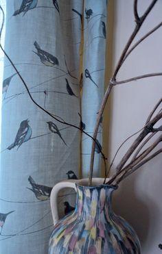 Garden Birds/ Blue   Fabrics   Louise Body