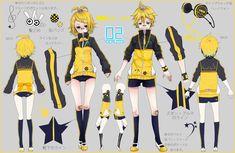 Rin Kagamine and Len Kagamine Rin Cosplay, Cosplay Diy, Cosplay Outfits, Anime Outfits, Cosplay Costumes, Cute Outfits, Len Y Rin, Kagamine Rin And Len, Female Character Design