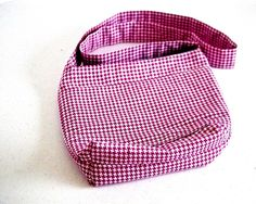 Small Cross Body  Bag   One of a Kind Small Shoulder Bag   Houndstooth Cross