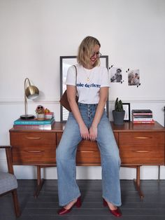 4 Trends I will be adopting for spring. - The Frugality Cropped Wide Leg Trousers, Wide Leg Denim, Types Of Trousers, The Frugality, All Black Outfit, White Tees, Capsule Wardrobe, My Style, French Style