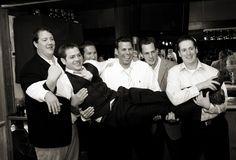 Groomsmen having a good time at a #KarlStrauss wedding