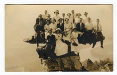 Umbrella Rock, Lookout Mountain, Tennessee. People have always been a little crazy--especially in groups.