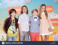 Download this stock image: Inglewood, CA. 12th Mar, 2016. Lizzy Greene, Mace Coronel, Casey Simpson, Aidan Gallagher at arrivals for Nickelodeon's Kids' Choice Awards 2016 - Arrivals 1, The Forum, Inglewood, CA March 12, 2016. © Elizabeth Goodenough/Everett Collection/Alamy Live News - FMTERY from Alamy's library of millions of high resolution stock photos, illustrations and vectors.