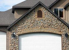 Rolled River Rock | Kodiak Mountain Stone Stone Gallery, Manufactured Stone, Garage Doors, Rolls, Mountain, River, Outdoor Decor, Home Decor, Homemade Home Decor