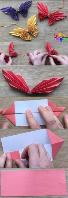 fácil Butterfly Origami – We have created an easy origami Butterfly before, i feel i. Butterfly Origami – We have created an easy origami Butterfly before, i feel is so even easier!, as there's a touch cutting concerned, furthermore because t 3d Origami Herz, Origami Ball, Paper Crafts Origami, Paper Crafting, Diy Paper, Origami 2d, Origami Dress, Origami Envelope, Easy Paper Crafts