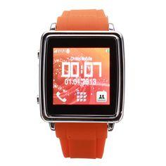 MQ588 Men Women Orange Locater Bluetooth Moblie Phone Wrist Watch