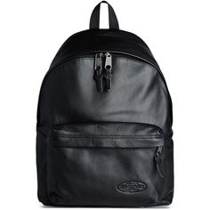 Eastpak Rucksack ($200) ❤ liked on Polyvore featuring bags, backpacks, black, logo bags, leather bags, leather daypack, backpacks bags and eastpak