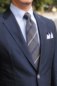 Navy suits,oxford BDshirts&wooltie