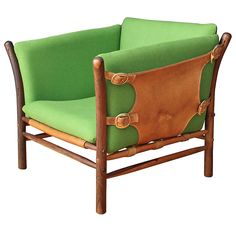 Arne Norell; Rosewood, Leather and Brass 'Liona' Chair, 1970s.