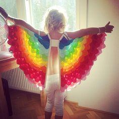 Ailes de grand RAINBOW REVERSE Costume enfant 5-8 ans