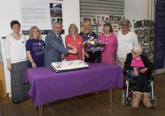 Lynn Dunning, Jane Galvin and Deputy Mayor Ken Richardson join Friends of the Cooper gallery for centenary cake cutting - delicious way to raise funds for the Cooper 100 Appeal