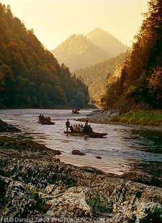 Rafts on Dunajec River, Pieniny Mountains, Carpathian Range, borders Poland & Slovakia Bratislava, Travel Around The World, Around The Worlds, Visit Poland, Poland Travel, Rafting, Amazing Nature, The Great Outdoors, Wonders Of The World