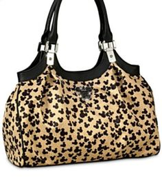 Mickey Mouse Animal Print Purse Hey Patty, if you find THIS material, you can make a purse for me!