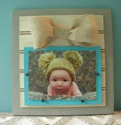 Wood Plank Picture Frame  for 5x7 or 4x6 by BurlapandLovely, $35.00