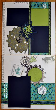 by Lynn Como... it saved this sideways!!!... It's a 2pg scrapbook layout when turned 90 degrees to the right!