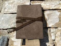 *M-Braun* Tagebuch aus Leder, Lederbuch Notizbuch