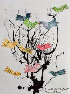 62 Ideas Tree Trunk Drawing Art Projects For 2019 Unique Art Projects, Group Art Projects, Collaborative Art Projects, School Art Projects, Art Activities For Kids, Preschool Art, Arte Elemental, Spring Art, Art Lessons Elementary