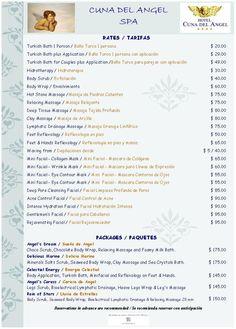 spa menu Spa Design, Salon Design, Design Ideas, Massage Marketing, Salon Price List, Spa Menu, Esthetician Room, Spa Services, Body Treatments