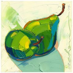 Original painting Eternally Pears 12X12Modern Fine by AllanChow, $240.00