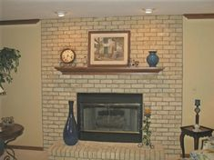 Inspiring Brick Fireplace Paint Ideas