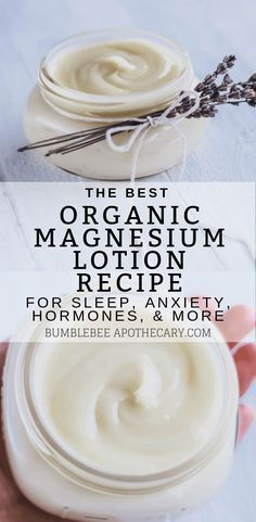 Magnesium lotion for sleep, anxiety, hormone imbalance and more #magnesium