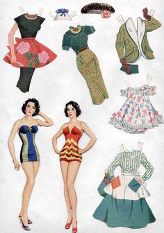 Vintage Whitman 2057 Elizabeth Taylor Paper Dolls 1957 Cut Excellent   eBay