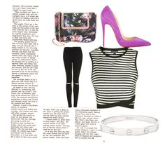 """""""Minding my business"""" by daijah-escobar on Polyvore featuring Topshop, Ted Baker, Christian Louboutin and Cartier"""