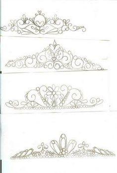 tiara template pesquisa google template de tiaras e coroas
