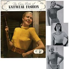 Vintage Emu Book of Knitwear Fashion - 14 Patterns for the Welldressed - 1950's