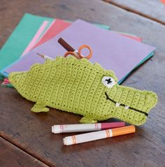Pencil Eater Alligator Case