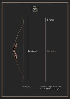 """For simple clarification, we have given the following basic rule (based on the AMO standard): According to the Archery Merchants and Manufacturers Org., the string is defined as three inches (1""""= 2.54cm) shorter than the corresponding AMO bow length. This is valid if the correct brace height is observed. All BEARPAW PRODUCTS bows comply with the AMO standard and therefore require a 3"""" shorter string. (Our illustration serves only for clarification and does not show the real length ratio). Bow String, Archery, Bows, Simple, Illustration, Products, Arches, Field Archery, Bow"""
