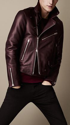 Love the Burberry Brit Leather Biker Jacket. how slick it looks. will definitely look good on any men. LOVE IT
