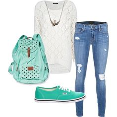 28 Best mint vans outfits images | Outfits, Cute outfits