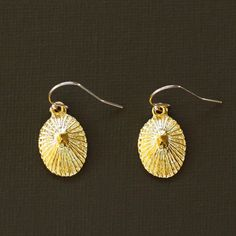 Gold Opihi Shell Earrings  14K Gold filled Earwires by NinaKuna, $24.00