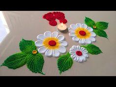Easy Rangoli Designs Videos, Easy Rangoli Designs Diwali, Rangoli Designs Latest, Simple Rangoli Designs Images, Rangoli Designs Flower, Free Hand Rangoli Design, Rangoli Patterns, Small Rangoli Design, Rangoli Ideas