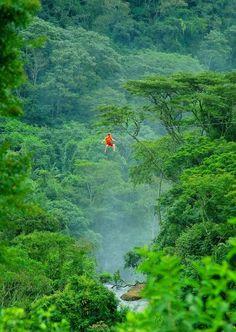 Vôo do Falcão: tirolesa (canopy) de 820 metros a uma altura de 60 metros - Brotas, Sao Paulo, Brasil