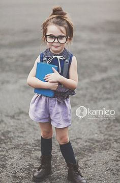Doesn't get much cuter than that. Girls got style (;