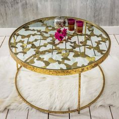 Gold Butterfly Coffee Table - Mad About The House