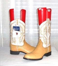 Ariat New Women's Hexcel Proroper Golden Yellow White Western Boot  Size 7.5  B #Ariat #CowboyWesternRoperBoot