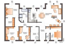 ▷ extremely cool floor plan for a bungalow. Bear House Bungalow One 139 - Haus 2016 - Garten Design Interior Design Living Room, Living Room Decor, Bedroom Decor, Bungalows, Sustainable Design, Architecture, House Plans, Cool Designs, Floor Plans