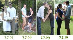 I am obsessed with this idea -- a picture every year on your anniversary :) Too bad we didn't get a picture on our anniversary last year... oh well, we can start the tradition on our second anniversary!