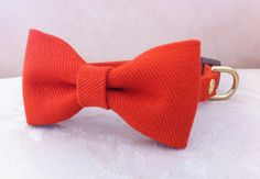 Vivid Orange Bow Tie Collar for Dogs. $35.00, via Etsy.