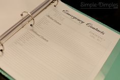 Organization Binders - This blogger has created some great household hints and organizational pages that can easily be adapted by any household.